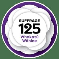 suffrage 125 logo mow