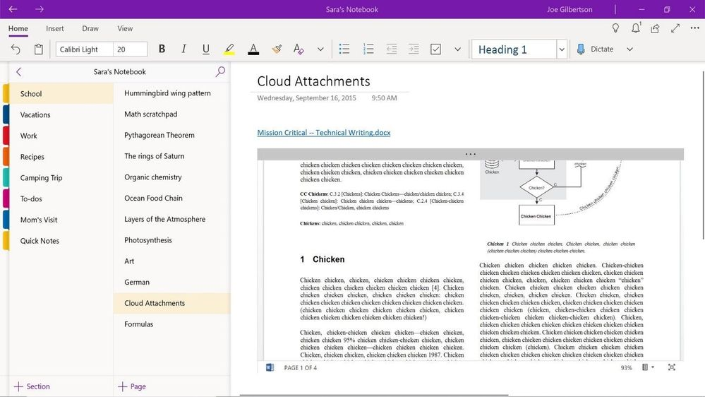 Cloud Attachments In OneNote - Game Changer For Educators