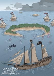 Pirate Boat Illustration