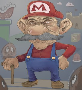 Old Mario Illustration
