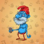 Papa Smurf before coffee