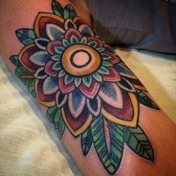 Color Flower with color dots