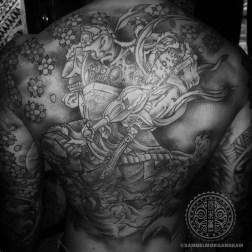 Idaten back tattoo