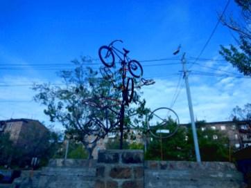 Rad-Kunstwerk in Jerevan