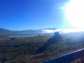 Morgendlicher Nebel in Hochebene