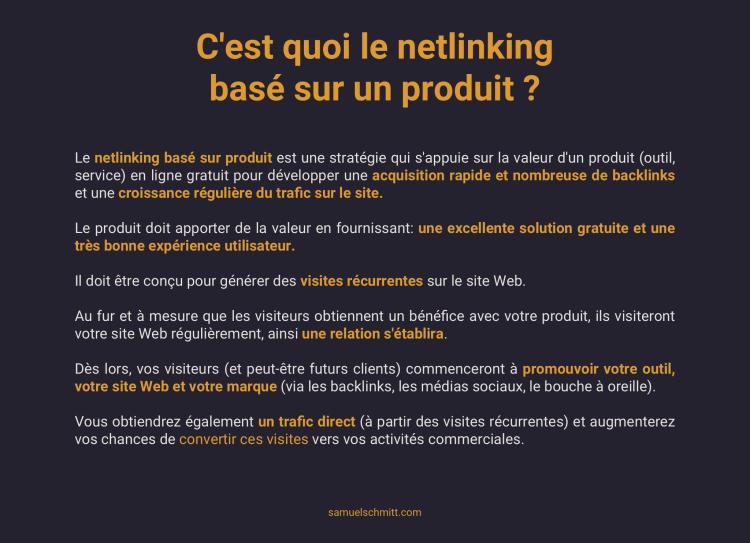 C'est quoi le netlinking basé sur un produit ?