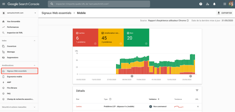 Core Web Vitals in Search Console