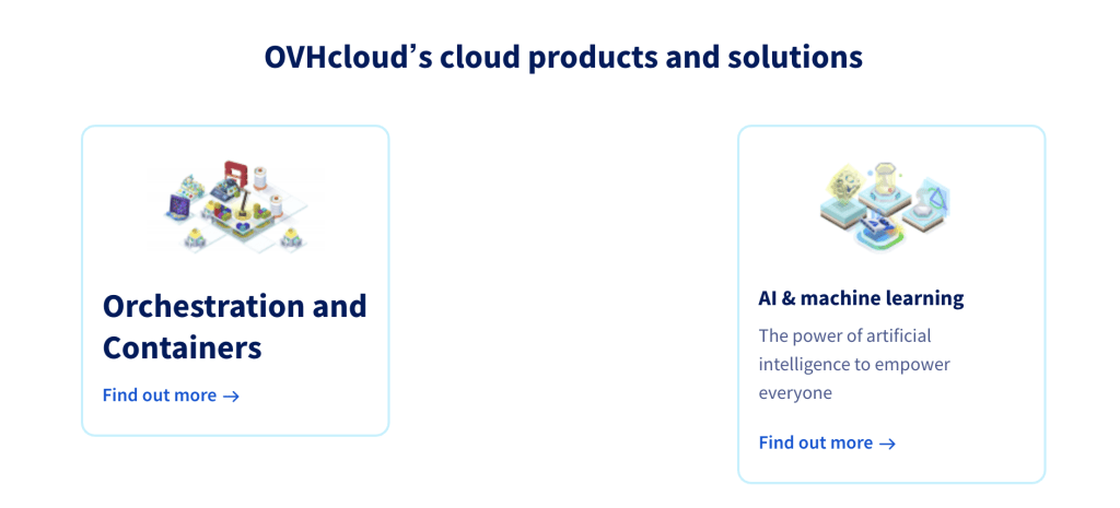 ovh cloud products