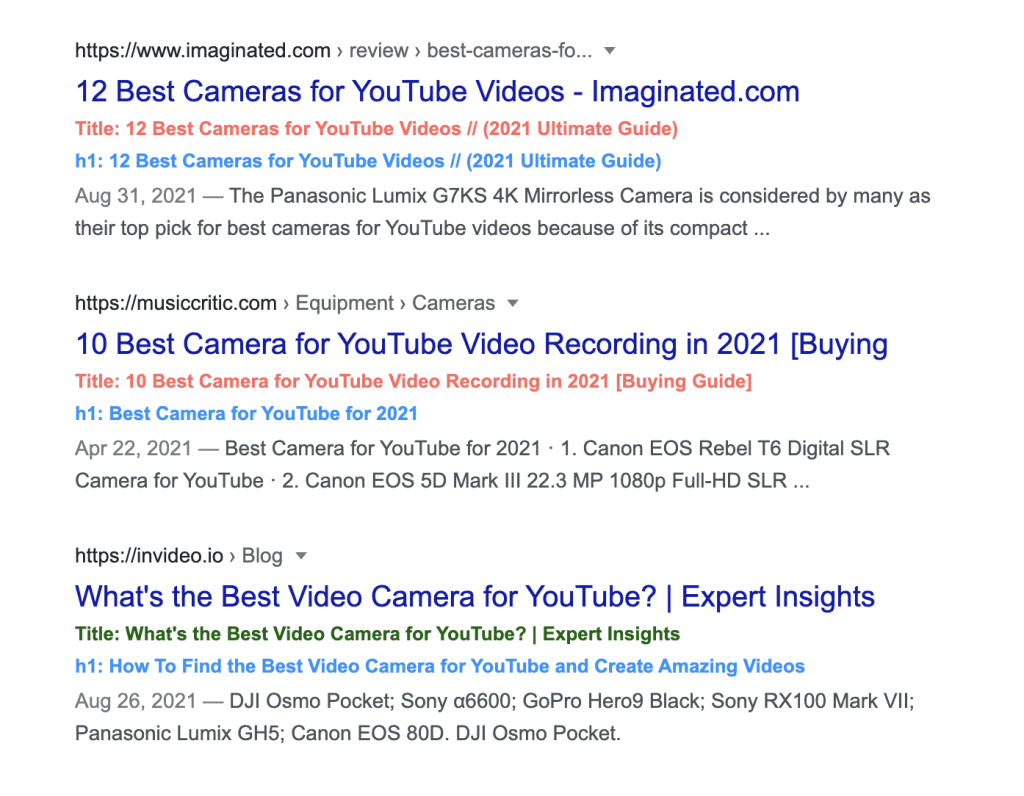 Bookmarklet checking to checl google rewrite title