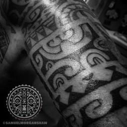 Marquesas style tattoo by Samuel Morgan Shaw