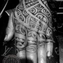 Dotwerk in the tamoko fashion. I didnt do the inricate black work