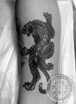 Polynesian Panther tattoo
