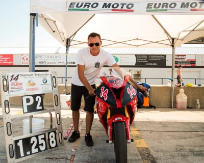 Herver Remetter from Euro Moto happy as we finish 2nd with the fastest time out there