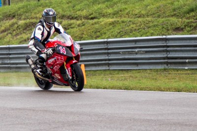 Samuel Trepanier at Mosport in wet condition
