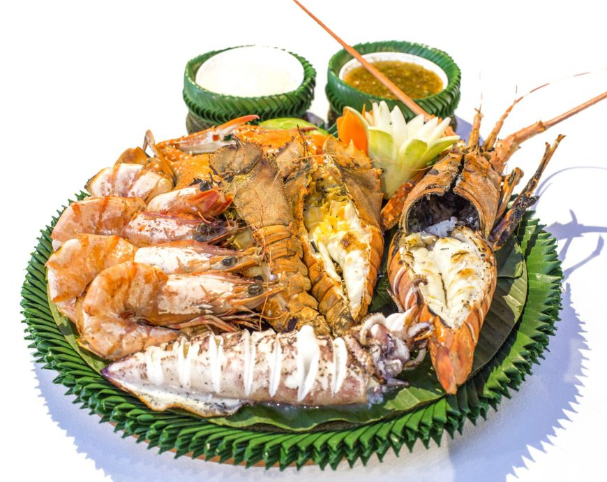 Main dish lobster samui seafood restaurant