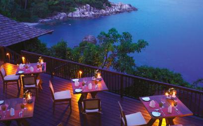 The height restaurant koh samui at night