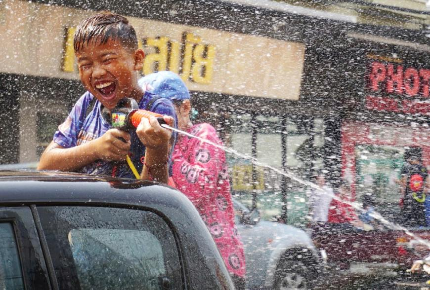 Boy songkran Samui
