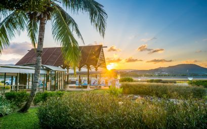 Samui airport sundown