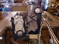 ダイヤモンドパイソン ロングウォレット(革財布)A-2&スマホケース