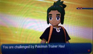 Hau challenges you to a battle.