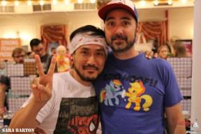 Hiroki Otsuka with his husband, Jason