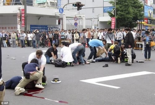 Ten years have passed today from the Akihabara gunmen incident (7 people died, 10 injured).