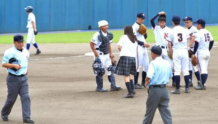 """【High School Baseball】 Judgment """"Iaaaaaaaa !! Uniform JK is giving a message to you!"""""""