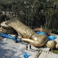 【Sad news】 Kannon Bodhisattva 25 meters high and weighs 40 tons collapses