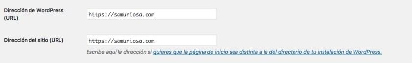 Cambio de URLs en WordPress