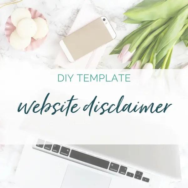 website disclaimer template health coaches coaches online entrepreneurs sam vander wielen diy legal templates