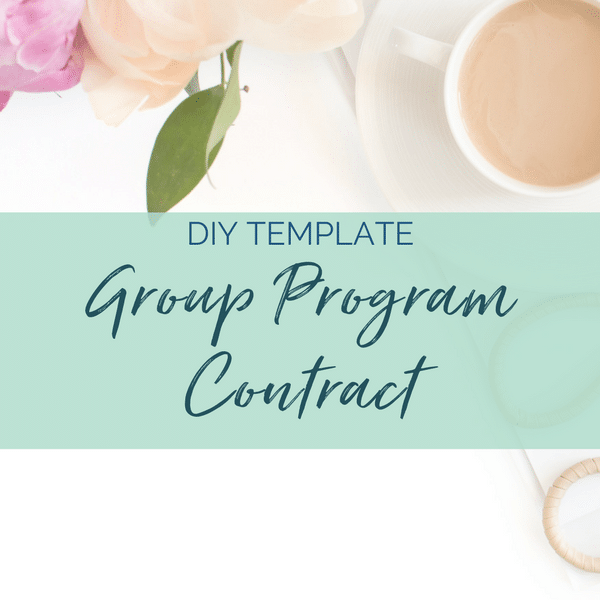group coaching contract