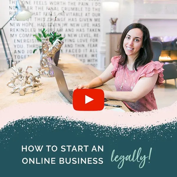 how to make your online business legal