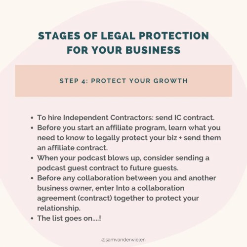 stages of legal protection