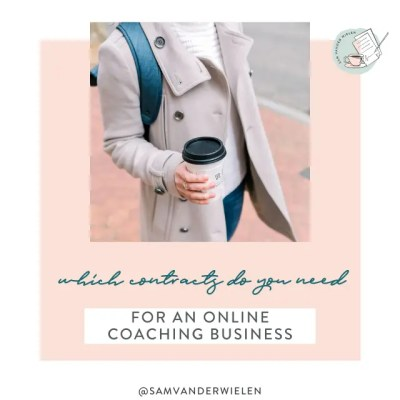 what contracts do you need for an online coaching business, sam vander wielen