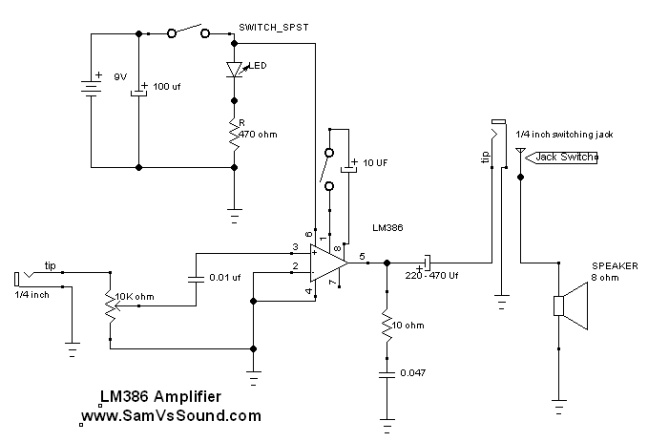 Simple DIY amplifier schematic