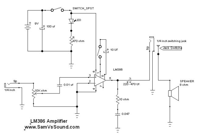 LM386 circuit