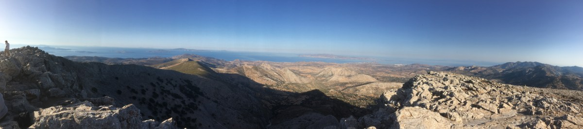 The view from Mount Zas, Naxos, Greece - the birthplace of Zeus