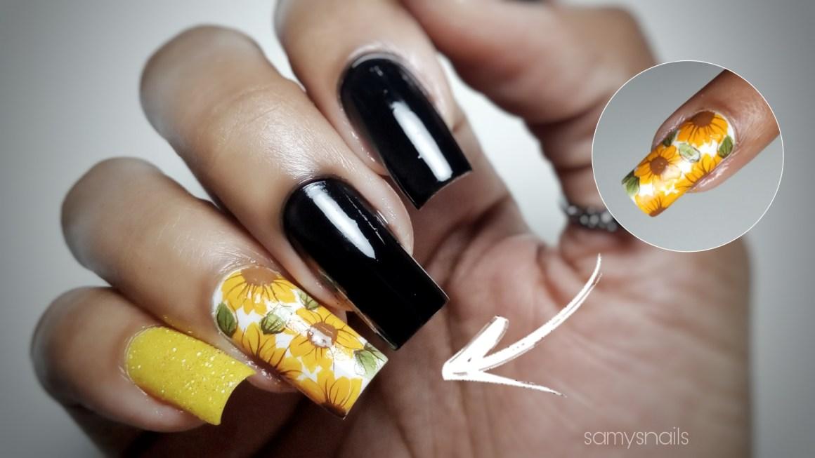 Unhas decoradas bem simples a mão