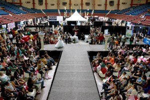 Bridal fashion show at the West Texas Bridal Showcase in San Angelo Texas