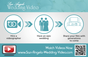 Flyer printed for San Angelo Wedding Video