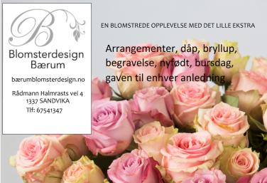 Annonse Blomsterdesign Baerum