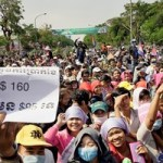 Cambodian workers protest for higher wages