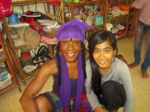 Sana and her chosen daughter, Sheynich