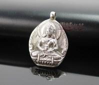 Amitabha Buddha pendant. Silver and handmade.