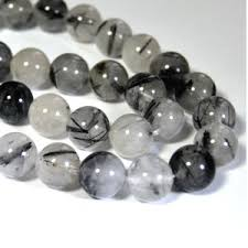 tourmalinated quartz beads