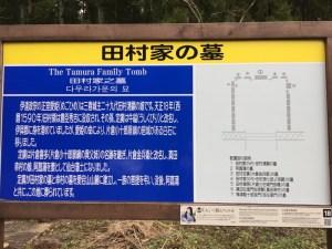 田村家の墓の配置図