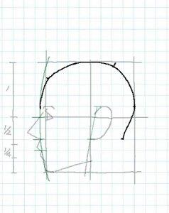 横顔描き方6-2