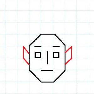 マス目の顔5