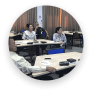 Group of People learning with Sanako Lab 100 in a classroom