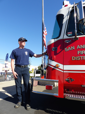 San Andreas Fire Protection Engineer Kevin Hall with Engine 165.